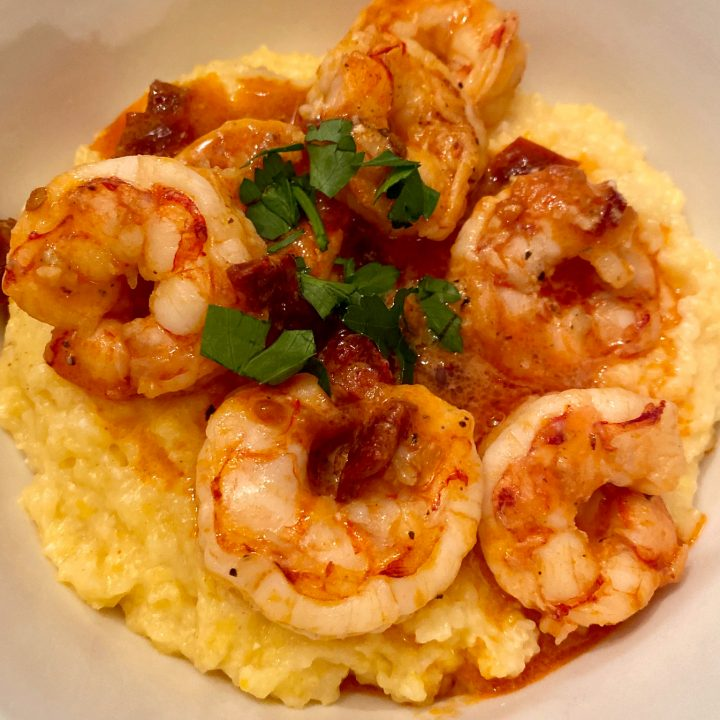 Low-Carb Cheesy Shrimp & Grits