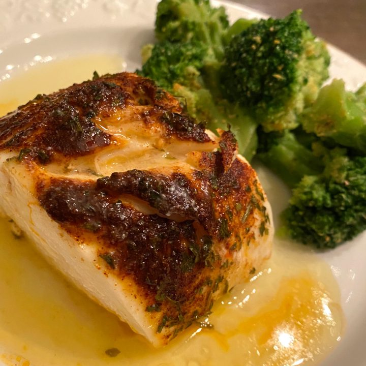 Halibut with Cumin, Chili, & Lime